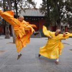 دو نفر در حال انجام تمرینات کونگ فو شائولین