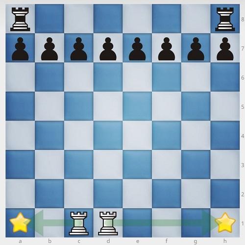 چیدن مهره های شطرنج-