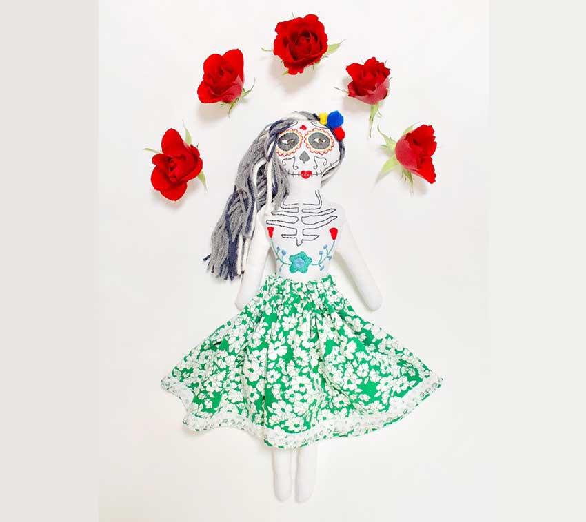 آموزش ساخت عروسک رنگی خلاقانه مکزیکی11