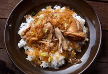 غذای پخته شده با مرغ