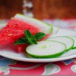 میوه آرایی با هندوانه و خیار1