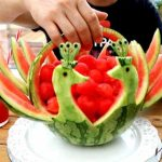 میوه آرایی با هندوانه و خیار10