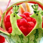 میوه آرایی با هندوانه و خیار15