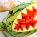 میوه آرایی با هندوانه و خیار18