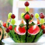میوه آرایی با هندوانه و خیار20