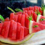 میوه آرایی با هندوانه و خیار24