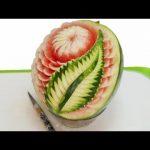 میوه آرایی با هندوانه و خیار26