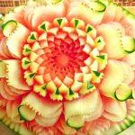 میوه آرایی با هندوانه و خیار5