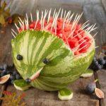 میوه آرایی با هندوانه و خیار6