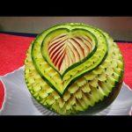 میوه آرایی با هندوانه و خیار7