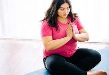 تمرین بدنسازی یک خانم چاق در خانه