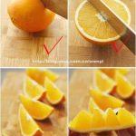 میوه آرایی با سیب و پرتغال8