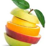 میوه آرایی با سیب و پرتغال