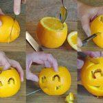 میوه آرایی با سیب و پرتغال1