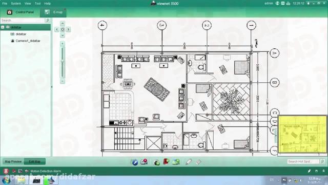 نحوه راه اندازی جهت طراحی دوربین ها بر روی نقشه