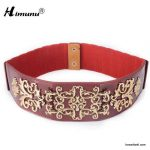 New-cowhide-Genuine-leather-Belt-for-Women-Metal-wiredrawing-Embroidered-Bohemian-Style-wide-Cummerbund-Elasticity-Female