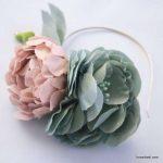 مدل جدید گلسازی با پارچه و کاغذ 10