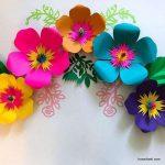 مدل جدید گلسازی با پارچه و کاغذ 2