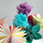 مدل جدید گلسازی با پارچه و کاغذ 6