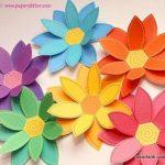مدل جدید گلسازی با پارچه و کاغذ 7