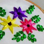 نمونه زیبا و جدید گلسازی ریبون 10