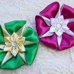 نمونه زیبا و جدید گلسازی ریبون 11
