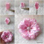 نمونه زیبا و جدید گلسازی ریبون 13