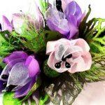 نمونه زیبا و جدید گلسازی ریبون 4