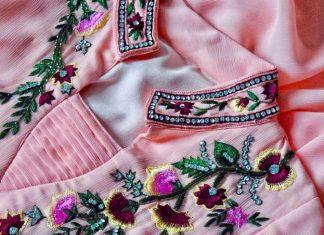 ملیله دوزی روی لباس