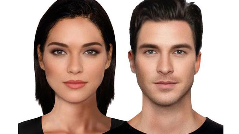چهره جذاب مردان و زنان