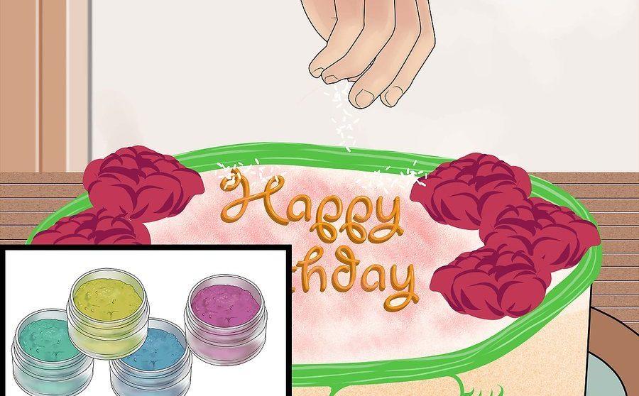 نحوه تزئین کیک تولد 18