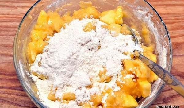 طرز تهیه کیک سیب 4