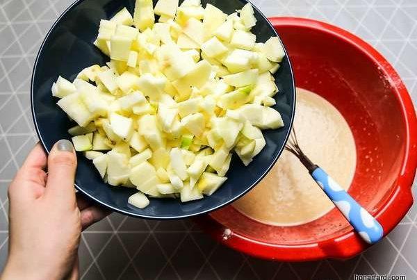 طرز تهیه کیک سیب 12