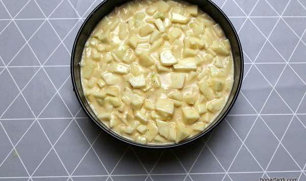 طرز تهیه کیک سیب 13