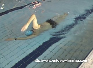 A swimmer practicing a the over switch drill