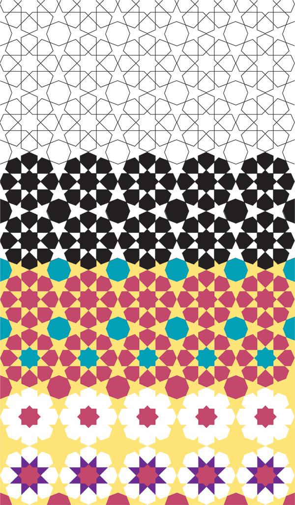 Eightfold rosette renderings