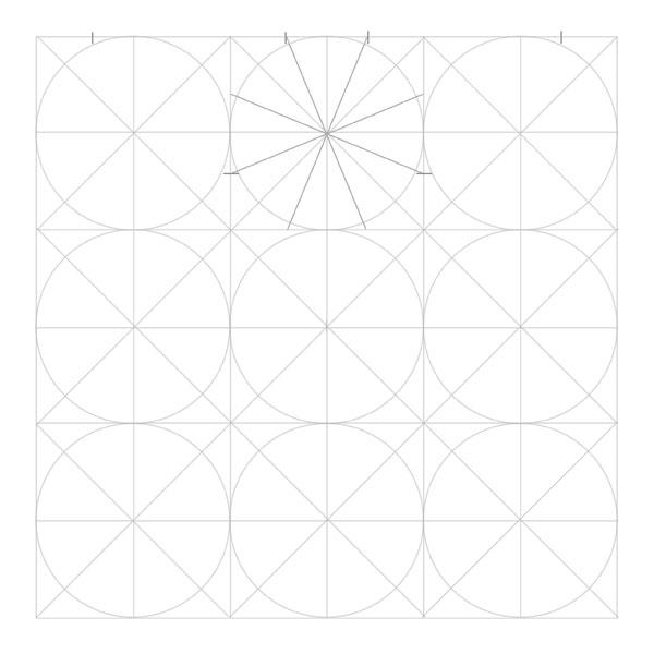 Eightfold rosette step 4