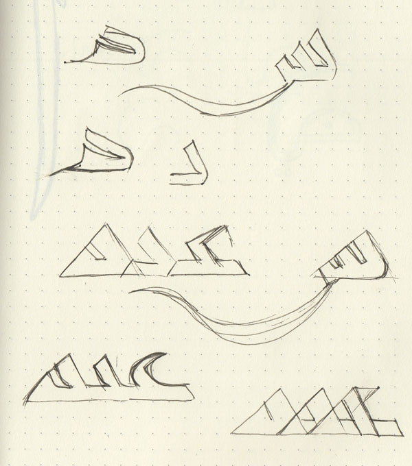 Fleshing out the letters