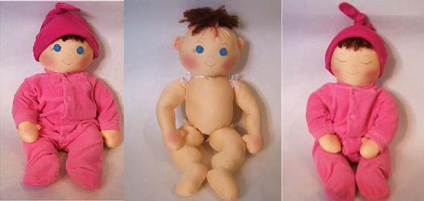 نحوه ساخت يك عروسك پارچه اي زيباي پسر بچه كوچولو