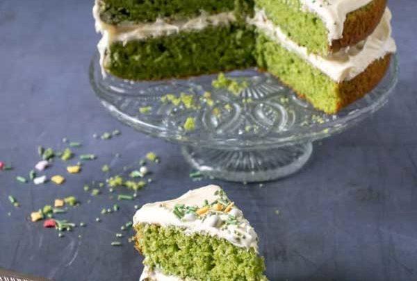 کیک اسفناج نهایی شده
