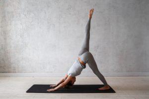 one legged downward facing dog yoga pose