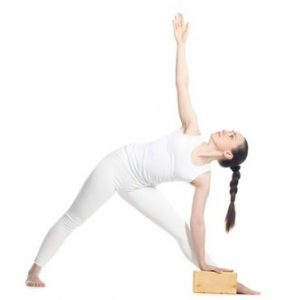 triangle pose for aches and pains