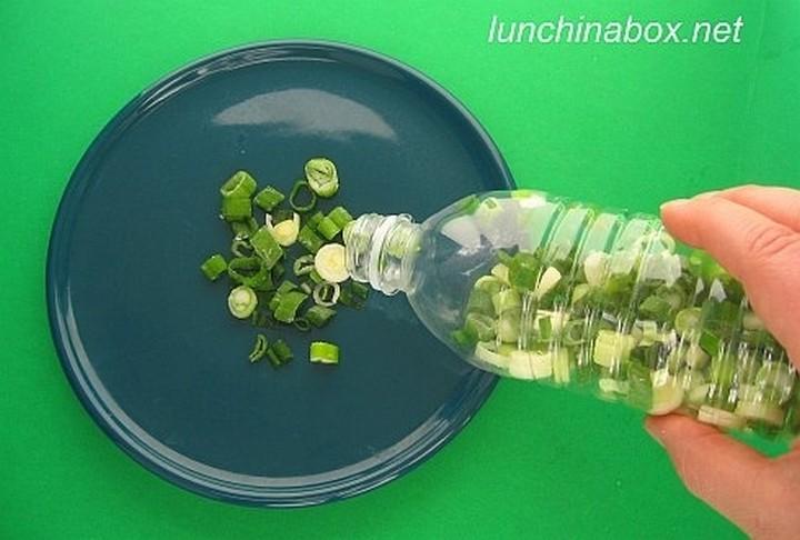 28 Food Storage Hacks - Chop and freeze green onions.