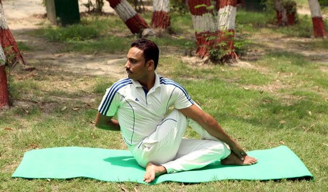 Ardha Matsyendrasana/ Half Spinal Twist