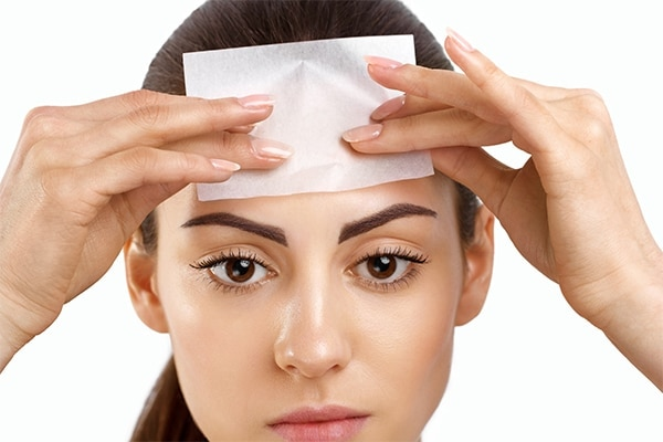 Avoid powder, embrace blotting papers