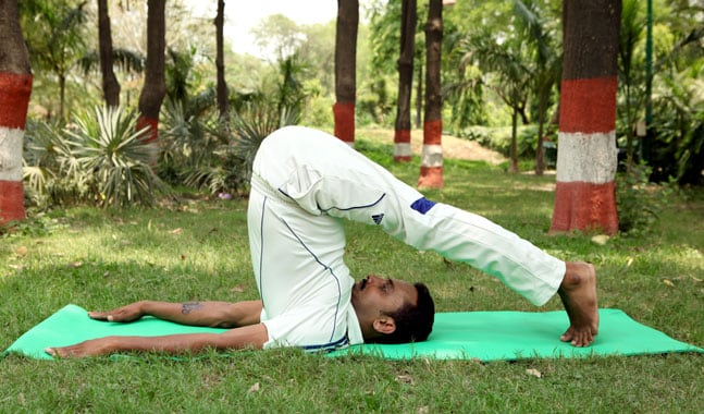 Halasana/ Plough pose