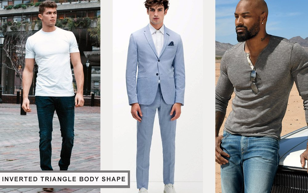 how to dress for your body type inverted triangle