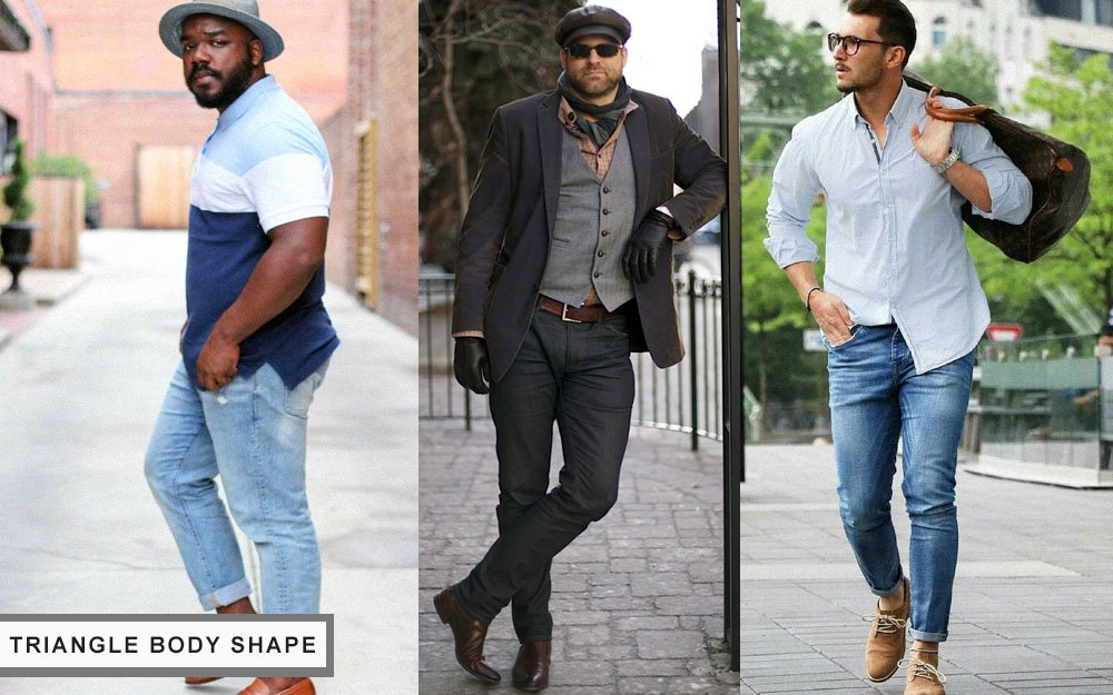 how to dress for your body type triangle shape