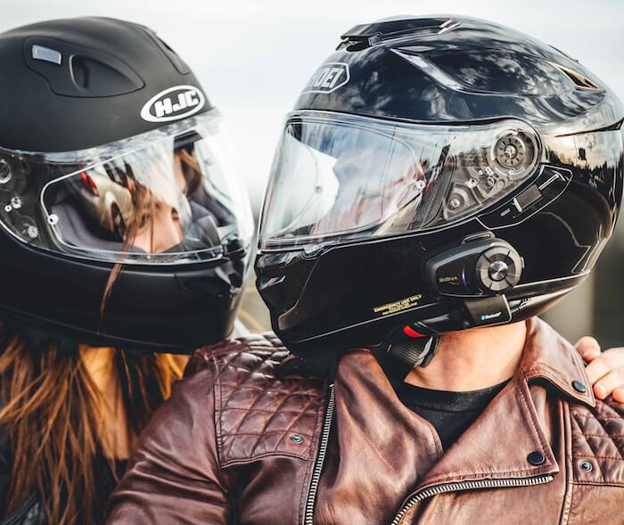 man and woman on motorcycle Am I in Love?