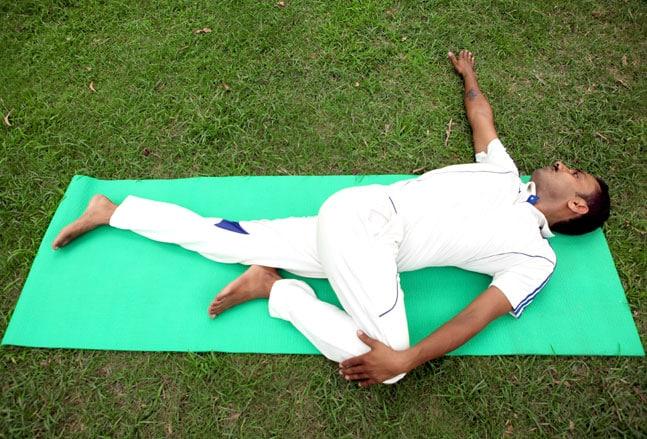 Supta Matsyendrasana/ Supine Spinal Twist